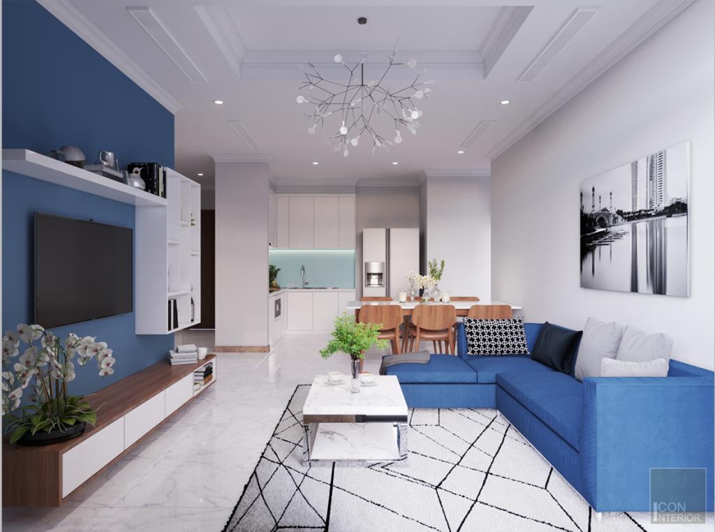Thiết kế căn hộ 2 phòng ngủ dự án Greenfield 686