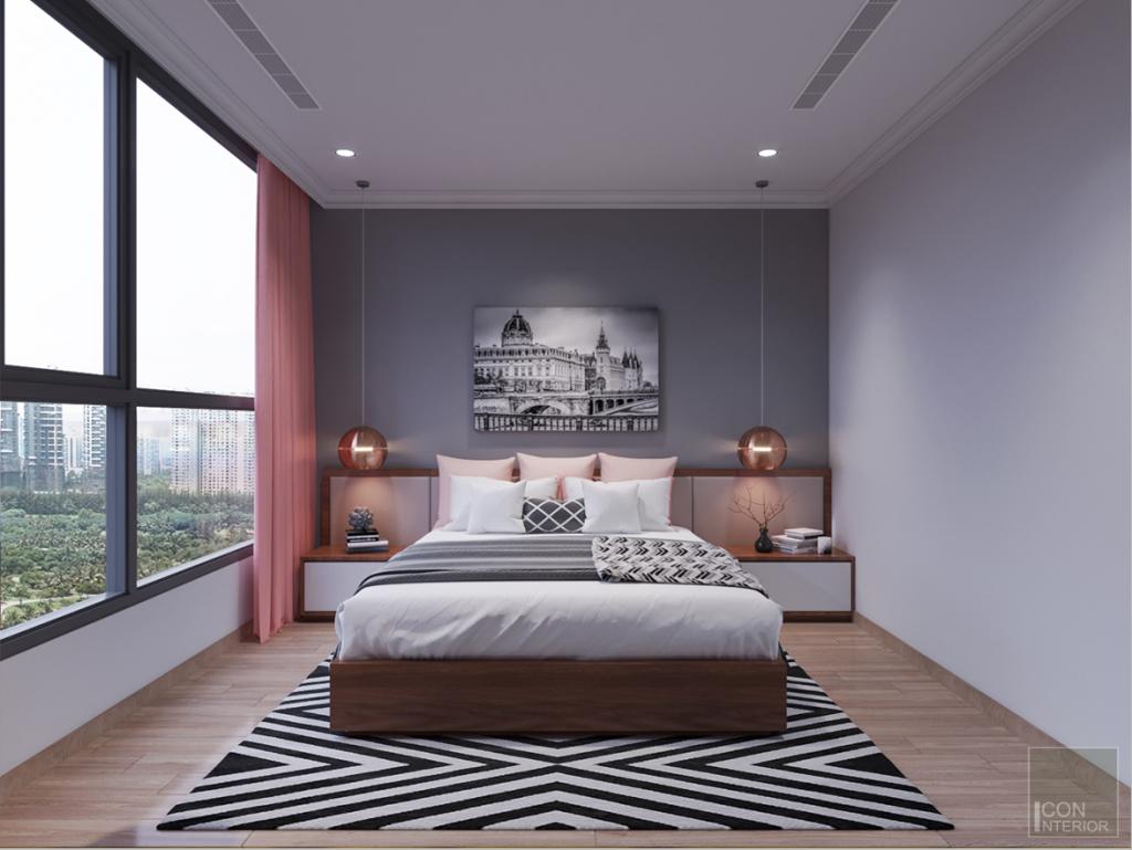 Thiết kế phòng ngủ căn hộ 2 phòng ngủ dự án Greenfield 686